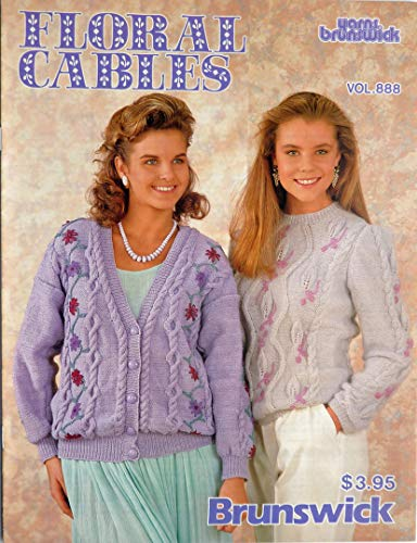 - Floral Cables Knitting Sweater Patterns - Brunswick - #888