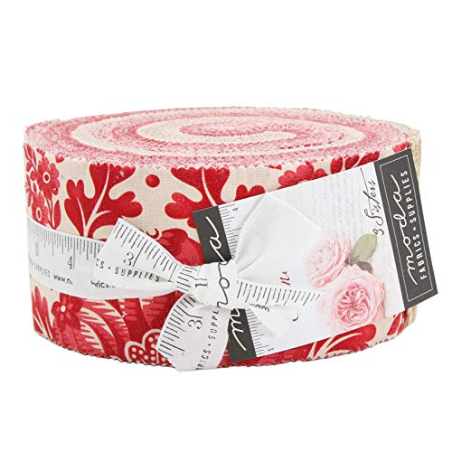 Cinnaberry Jelly Roll 40 2.5-inch Strips by 3 Sisters for Moda Fabrics ()