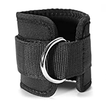Bustrill(TM) RDX Fitness Ankle D-Ring Strap Gym Leg Thigh Pulley Lifting