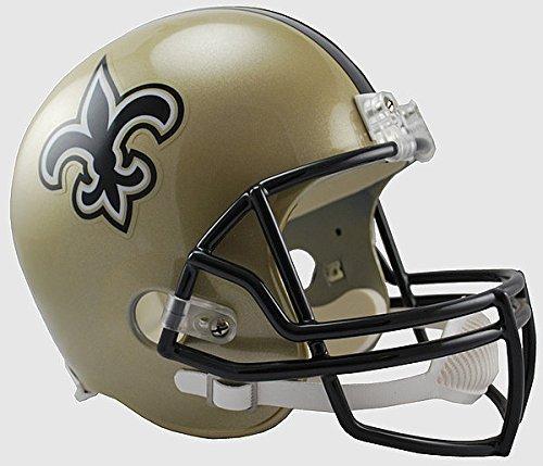 New Orleans Saints Full Size Replica Football Helmet - Licensed NFL Memorabilia - New Orleans Saints (New Orleans Saints Collectible Replica)