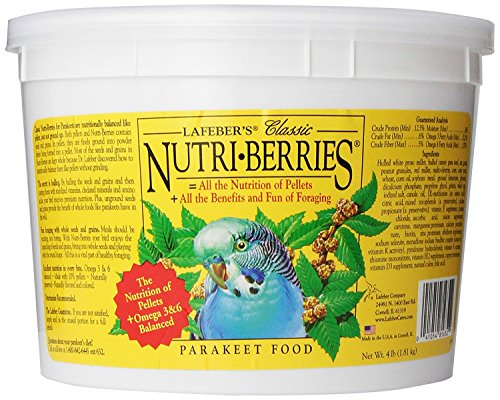 Lafeber Company Nutri-Berries Parakeet Pet Food, 4-Pound