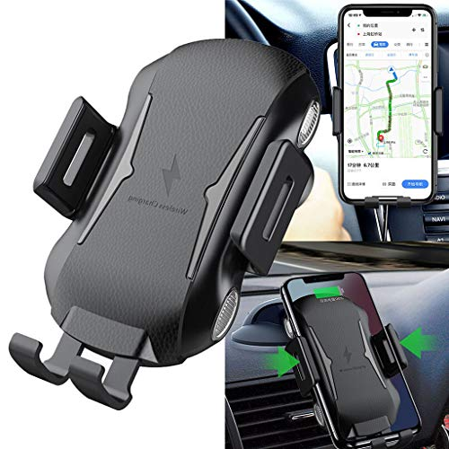 - ❤️Jonerytime❤️Air Vent Car Automatic Clamping Wireless Charging Holder for Samsung Galaxy S10 S10+ Black