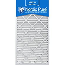 Nordic Pure 16x30x1M12-6 MERV 12 Pleated Air Condition Furnace Filter, Box of 6