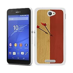 Funda carcasa para Sony Xperia E4 diseño flechas borde blanco