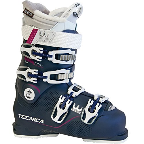 Tecnica Mach1 95 MV Ski Boot - Women's Blue Night, 22.5 (Ski Boots Mountain Tecnica)