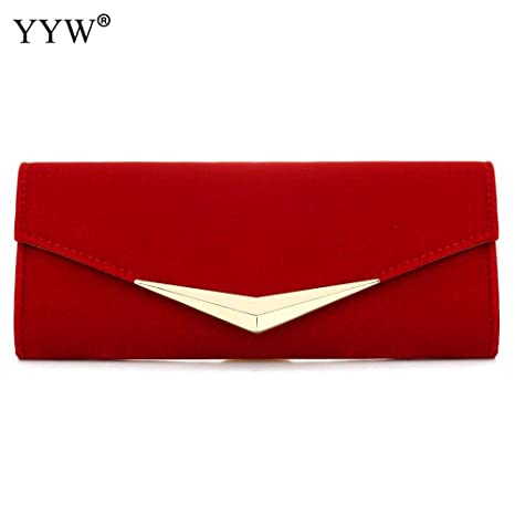 c3d8cd4a66 Amazon.com: 2018 Fashion Female Clutches Bag Red Satin Women ...