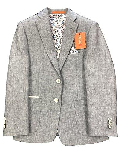 Tallia Big Boys Linen Blazer (Grey, 10) by Tallia Orange (Image #1)