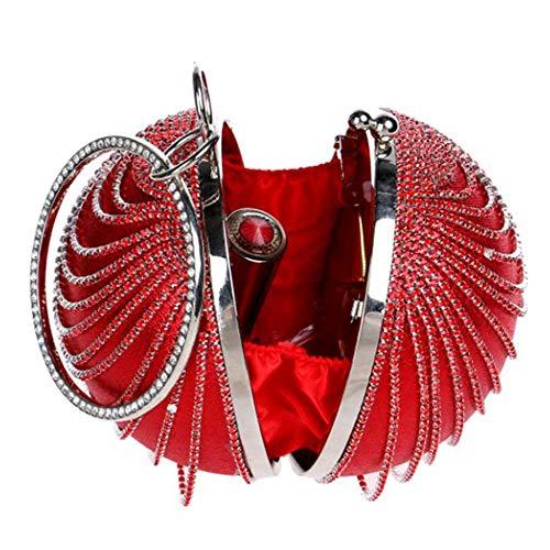 Banquete 12 Banquete 5cm Bolsa Mujeres Diamante La Esférico Embrague Lentejuela Hembra Red Manija Asas 25cm Del Para Tarde Gold2 Las 12 5cm Bolso De ZSRTq6
