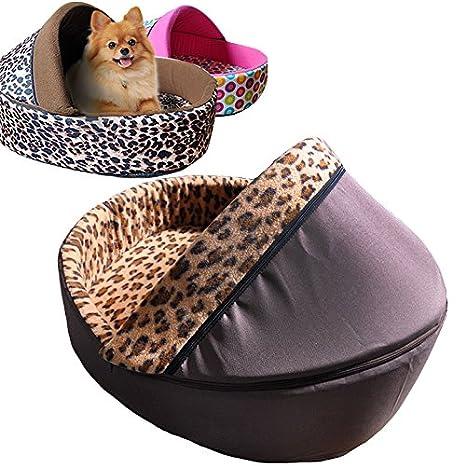 Cama para perros Zapatos Leopard con Inlay y techo: Amazon.es: Productos para mascotas
