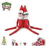 Elephant Xu Holiday Toy Dolls,Christmas Novelty Elf Plush Dolls One Set (Boy and Girl)