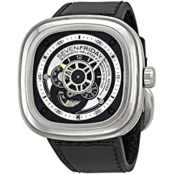 Sevenfriday Industrial Essence Silver and Black Dial Automatic Mens Watch P1-1