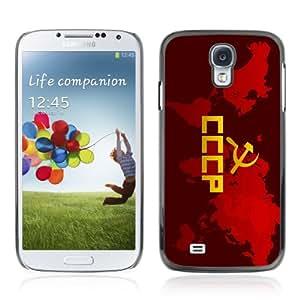 CQ Tech Phone Accessory: Carcasa Trasera Rigida Aluminio Para Samsung Galaxy S4 i9500 - CCCP Word Invasion