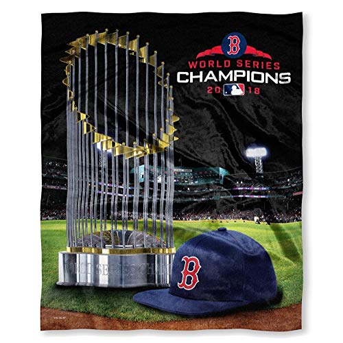 "- Boston Red Sox 2018 World Series Champions 50"" x 60"" HD Silk Touch Throw Blanket"