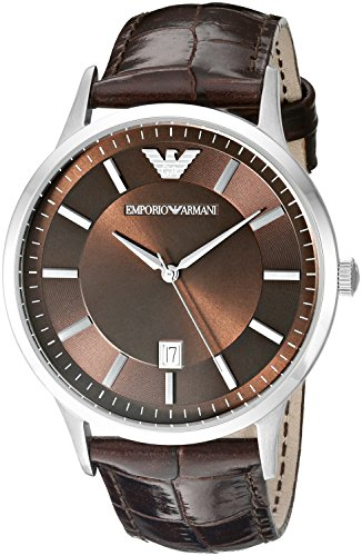 Emporio-Armani-Mens-AR2413-Dress-Brown-Leather-Watch
