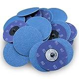 3'' Roloc Zirconia Quick Change Sanding Discs 80 Grit - 25 Pack
