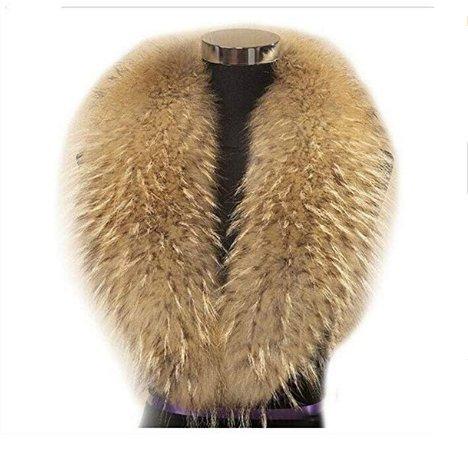Gegefur Luxury winter scarf female genuine raccoon fur scarf female shawl collar (100cm, Natural ()