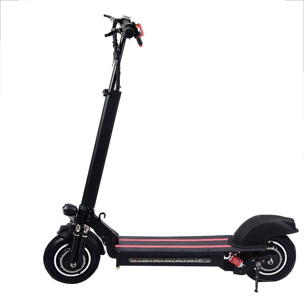 Scooter eléctrico de 10 pulgadas de doble unidad scooter eléctrico (negro rojo)