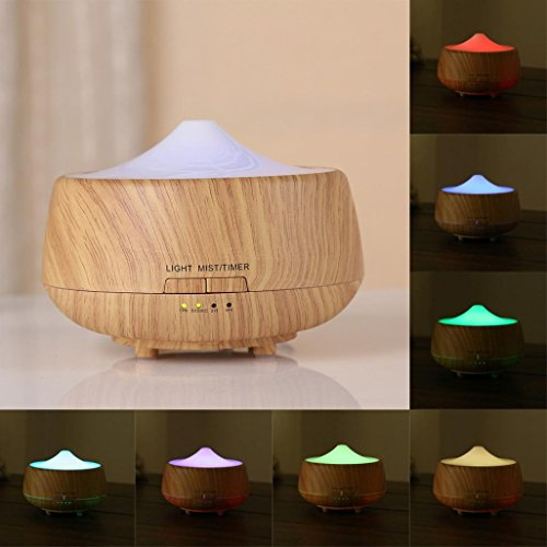 GOTD 7 LEDs Aroma Diffuser Essential Oil Ultrasonic Air Humidifier Purifier Atomizer, Yellow by Goodtrade8