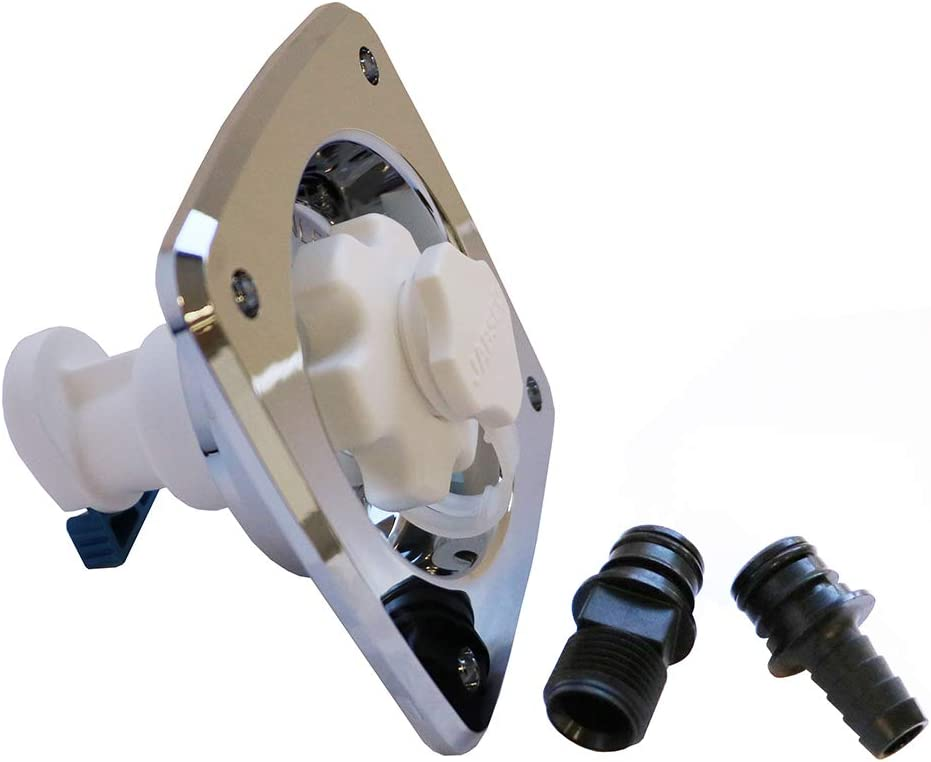 Jabsco Flush-Type Water Pressure Regulator, Chrome 515IFe3mEXL
