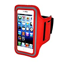 Armband For iPhone 7/6/6S Plus, LG G6 G5, Galaxy s8 s7 s6 Edge s8+,Note 5.etc.CaseHQ Adjustable Reflective Sport Exercise Running Pouch Key Holder,Screen Protector-Hiking,Biking,Walking(red)