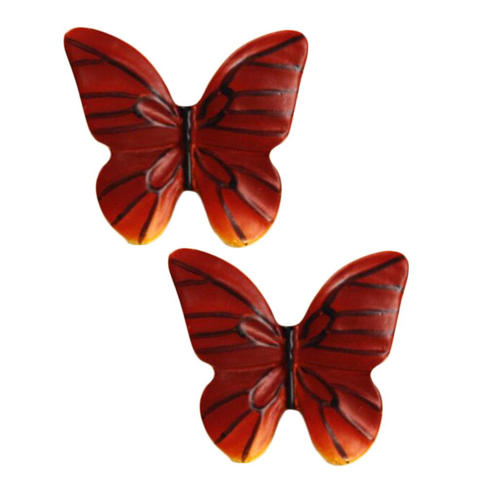 Beautiful Cabinet Knobs Drawer Pull Handles Butterfly Pack Of 2