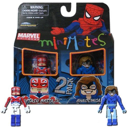 Marvel Minimates Series 31 Mini Figure 2Pack Captain Britain & Shadowcat Classic Costume -