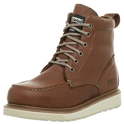 """Timberland PRO Men's 53009 Wedge Sole 6"""" Soft-Toe Boot,Rust,7 W"""