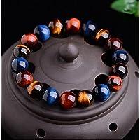 Jaywine2 100% Natural AAA+ Gemstone Tigers Eye Stone Beads Woman Man jewelry Bracelet (8mm)
