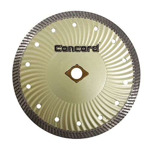 Concord Blades CBN070D10CP 7 Inch Granite and Marble Narrow-Turbo Wave Diamond Blade (Masonry Wet Saw)