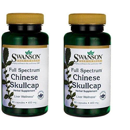 Swanson Full-Spectrum Chinese Skullcap 400 Milligrams 90 Capsules 2 Pack
