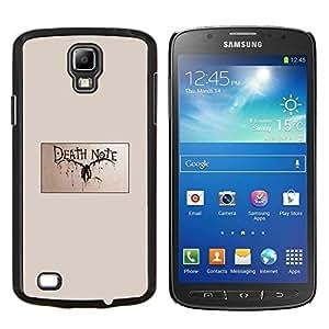 Aviso de muerte- Metal de aluminio y de plástico duro Caja del teléfono - Negro - Samsung i9295 Galaxy S4 Active / i537 (NOT S4)