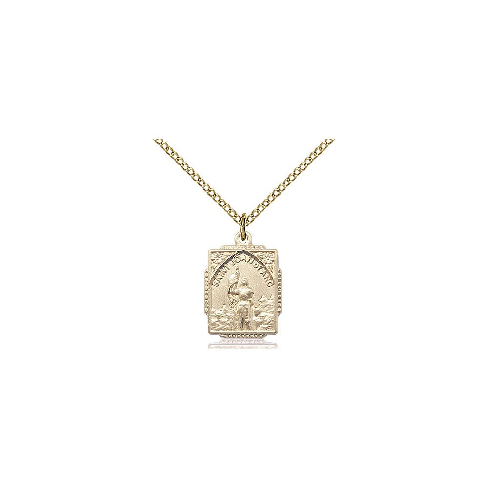 DiamondJewelryNY 14kt Gold Filled St Joan of Arc Pendant