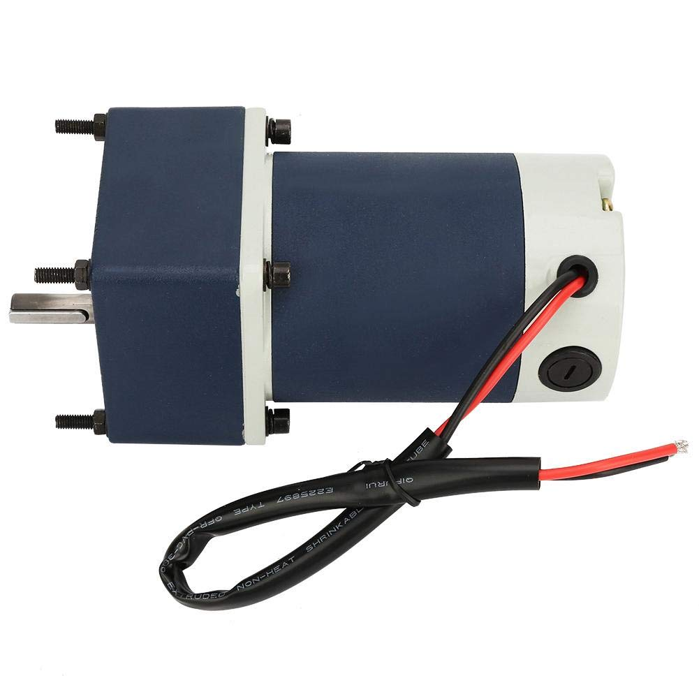 DC 24V 60W Electric Gear Motor,Permanent Magnet DC Motor High Torsion Adjustable Speed Metal with Gearbox Has Different Reduction Ratios with Helical Gear Shaft Metal Gear for Generator 15,140RPM