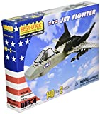 : Jet Fighter 140 Piece Construction Toy with Action Figure