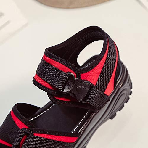 De Épaisse Compensée Rouge Sandales Manadlian Été Mocassins Plateforme Mode Bouche Femmes Pour Chaussures Poisson Plates qS7zfHwx