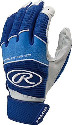 Rawlings Workhorse 950 Series Adult Batting Gloves,Royal (Franklin Leather Batting Glove)