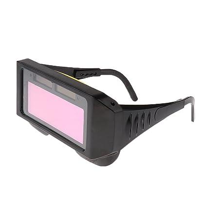 MagiDeal Solar Accionado Oscurecimiento Automático Soldadura Máscara Casco Ojos Goggle Soldador Gafas