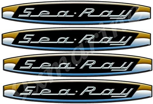 Amazon com: Sea Ray Boat Vintage Decals/Stickers  Remastered