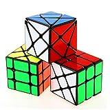 CuberSpeed Speedcubing Bundle YJ Fisher V2 cube Black YJ Axis v2 3x3 cube & YJ Windmill V2 3x3 cube Black Speed cube
