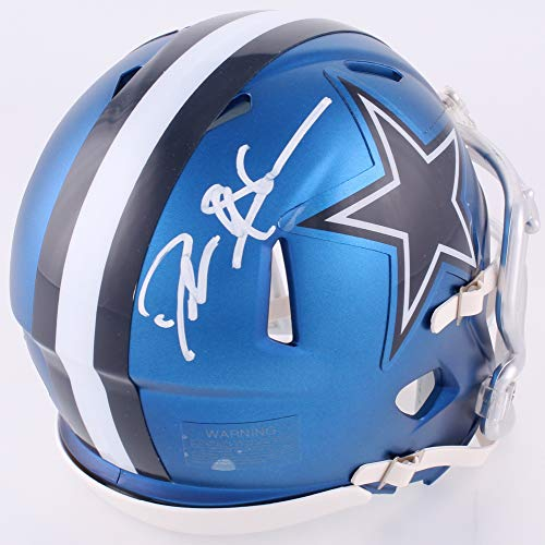 Deion Sanders Dallas Cowboys Signed Autograph BLAZE Speed Mini Helmet JSA Witnessed Certified