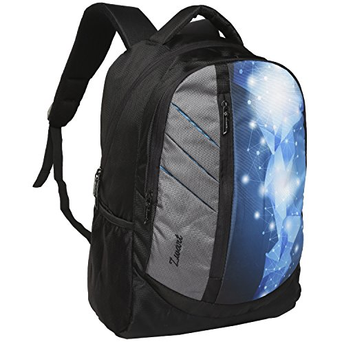 Zwart 25 Ltrs Multicolor School Backpack  Kaster Crystal