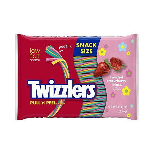 Twizzlers PULL 'n' PEEL Twizted Strawberry Blast Candy, 10.12 oz