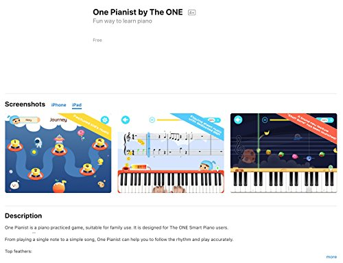 The ONE Smart Piano Keyboard, 61-Key Portable Keyboard, The ONE Light Keyboard,  Electric MIDI Keyboard, Black - Image 7