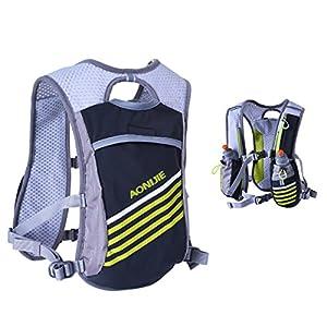 Triwonder 5.5L Outdoors Mochilas Trail Marathoner Running Race Hydration Vest Hydration Pack Backpack (Grey - Only Vest)