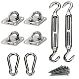 Shadelo Sun Shade Sail Complete Hardware Kit 24 PC - For Square Sun Shade Sail - 8 Inches, 316 Stainless Steel