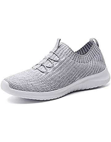 30ac3bc18449 TIOSEBON Women's Lightweight Casual Walking Athletic Shoes Breathable  Flyknit Running Slip-On Sneakers 7.5 US