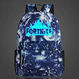 Fort Loot Fortnite Blue Luminous Lightning Backpack School Supplies - Kids School Bag Gift