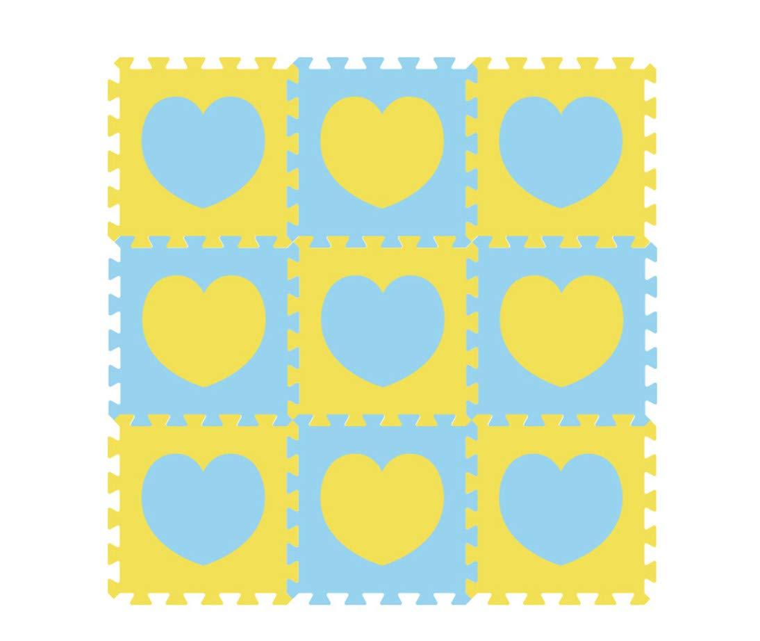 Stillshine 12 Piezas EVA Espuma Puzzle Alfombra//Alfombrillas para Puzzles //Puzzles de Suelo para Ni/ño// No T/óxico Proteger el Piso Ejercicio Huella - Amarillo Azul Yoga Alfombra de Juego
