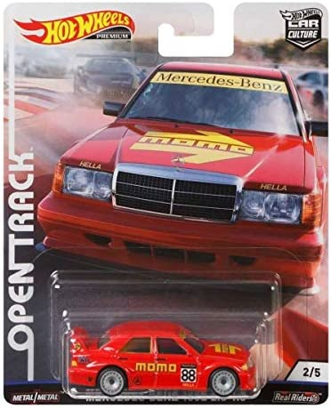 Mercedes-Benz 190 E 2.5-1.6 #2 Rot; Momo 2019 Hot Wheels Offen Auto Track Kultur