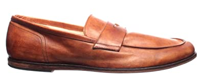 a49eef5e560179 PANTANETTI Chaussures Homme Mocassins 11493H Olden Brandy Slim 908 Cuoio  Made It